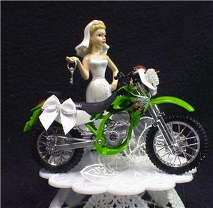 Kawasaki Wedding Cake Topper Green Off road dirt bike racing ...