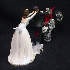 wedding cake toppers motorcycle uk road dirt bike motorcycle wedding cake topper 26546
