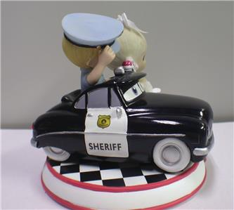 precious moments police wedding cake topper cop car policeman precious moments wedding cake 18712