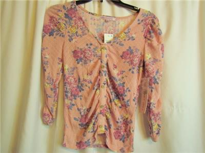 Nwt Crave Fame Pink Long Sleeve Faux Wooden Buttons Top Junior Sz Small 193290370400 Ebay