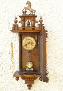 Antique Vienna Regulator Wall Clock D R G M Drgm Ebay