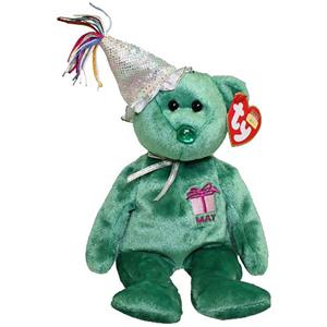 May Birthday Bear Ty Beanie Baby Retired 2nd Series With