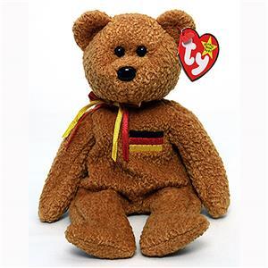 Germania The German Bear Ty Beanie Baby Mwmt Retired
