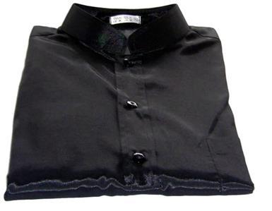 afdcee168 Details about Mens Thai Silk Shirts / Black / Mandarin Collar / Short -  Long / Small - XXXL
