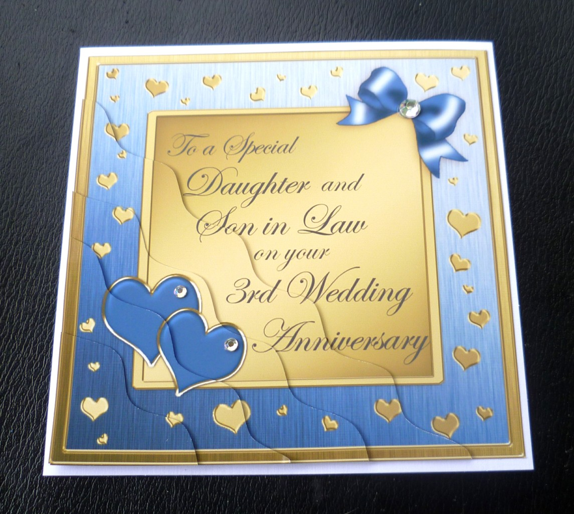 Love Quotes About Life: Daughter & Son In Law 3rd Wedding Anniversary Card