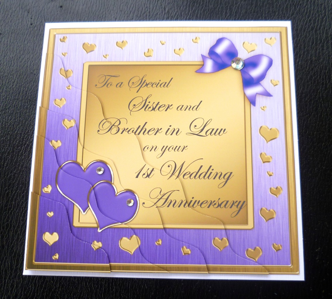 Anniversary Wishes For Brother And Bhabhi Quotes: Sister & Brother In Law 1st Wedding Anniversary Card