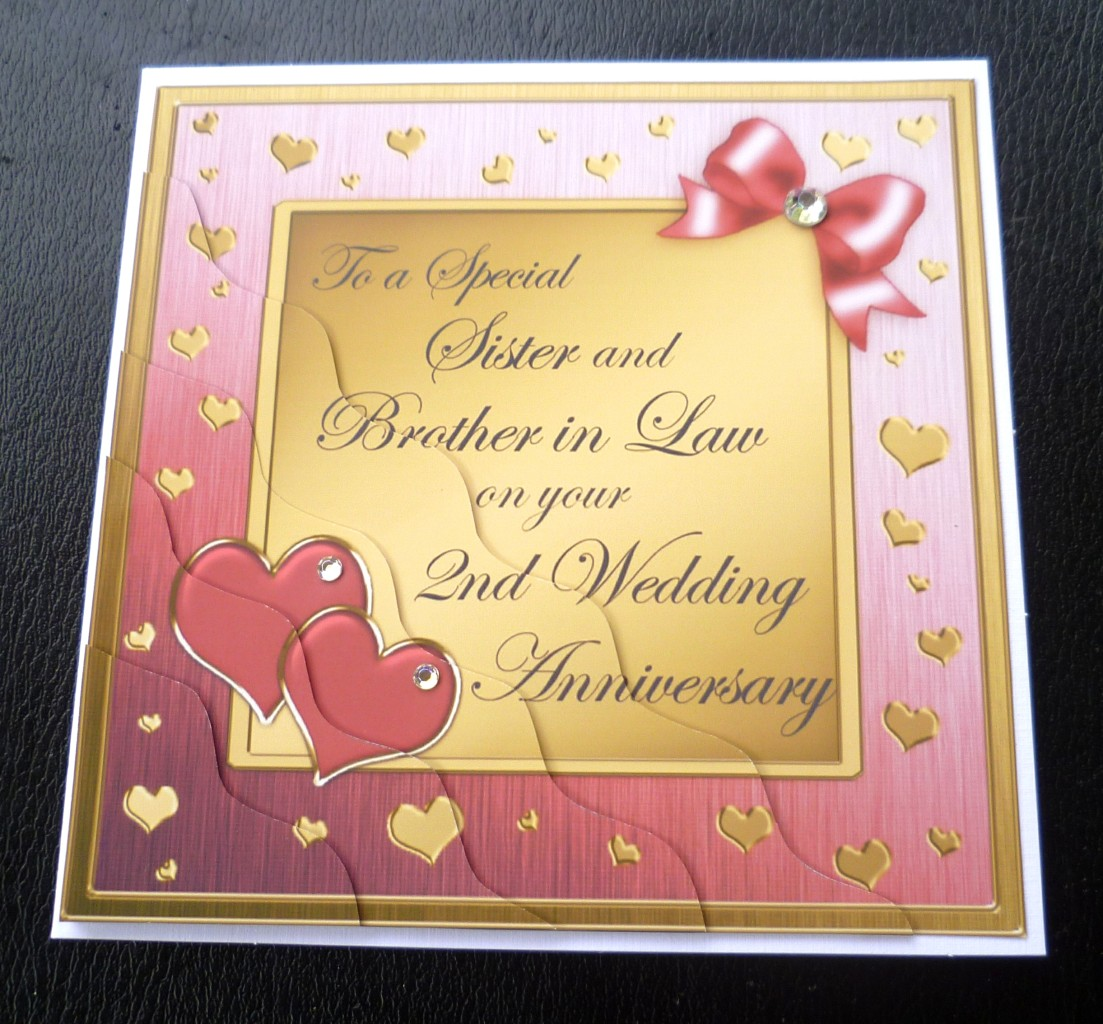 Wedding Anniversary Quotes To Sister: Sister & Brother In Law 2nd Wedding Anniversary Card