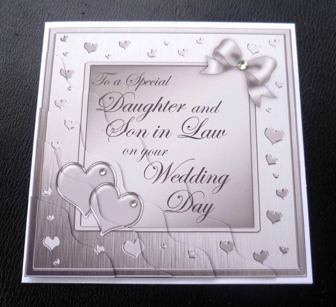 Love Quotes About Life: Daughter & Son In Law Wedding Day Card - 4 Colours