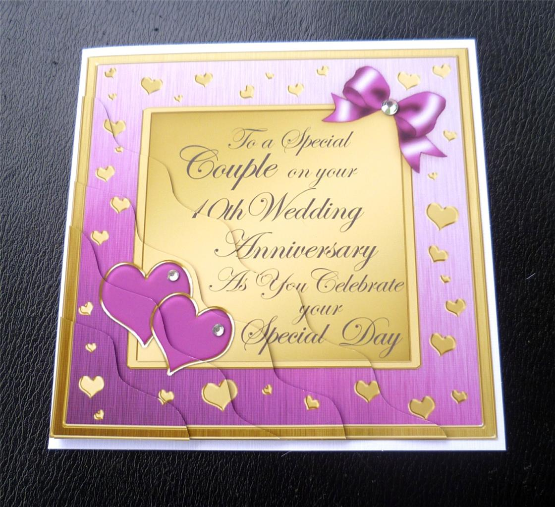 Gifts For 10th Wedding Anniversary For The Couple: Special Couple 10th Wedding Anniversary Card