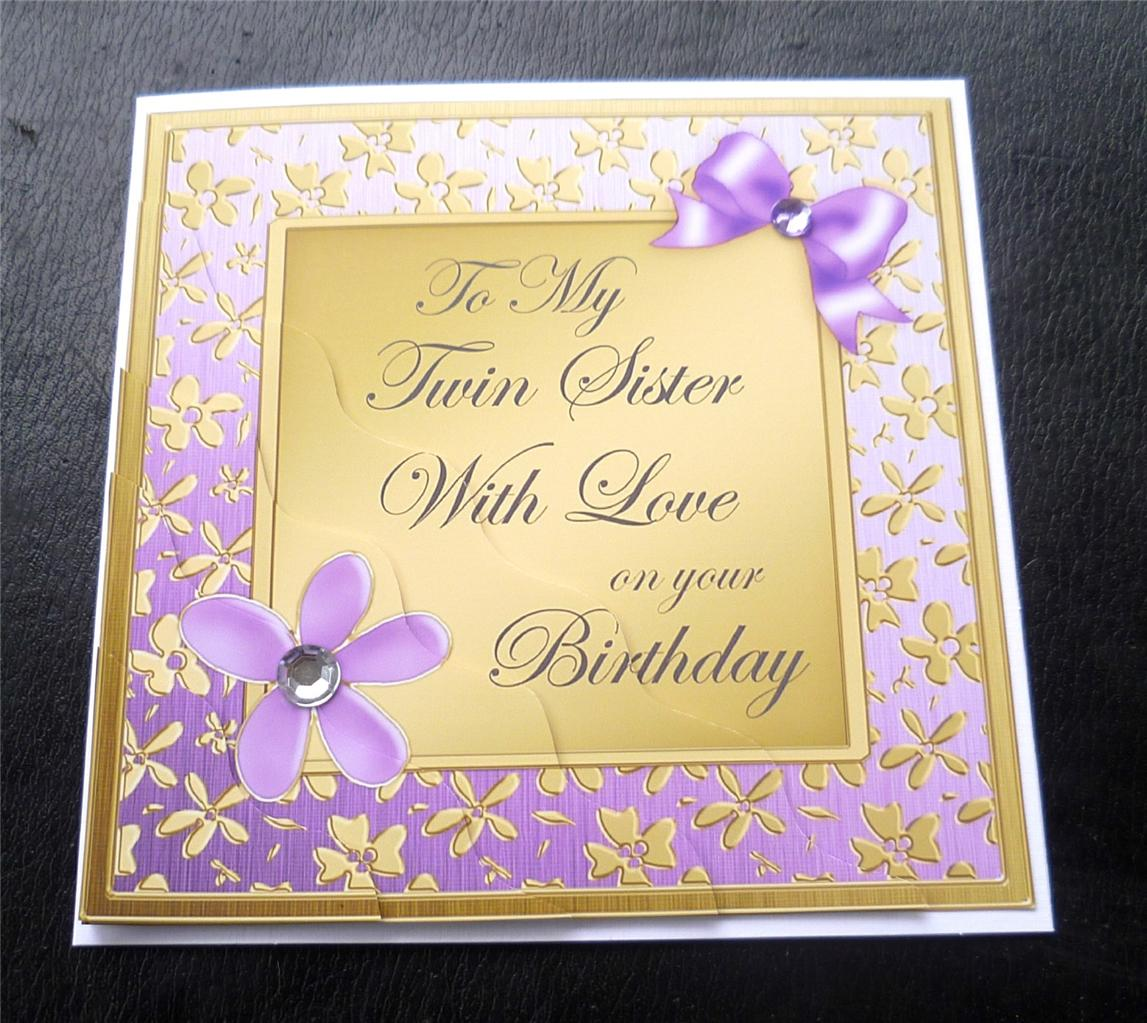 Happy Birthday Card For My Twin Sister Poem To With Love