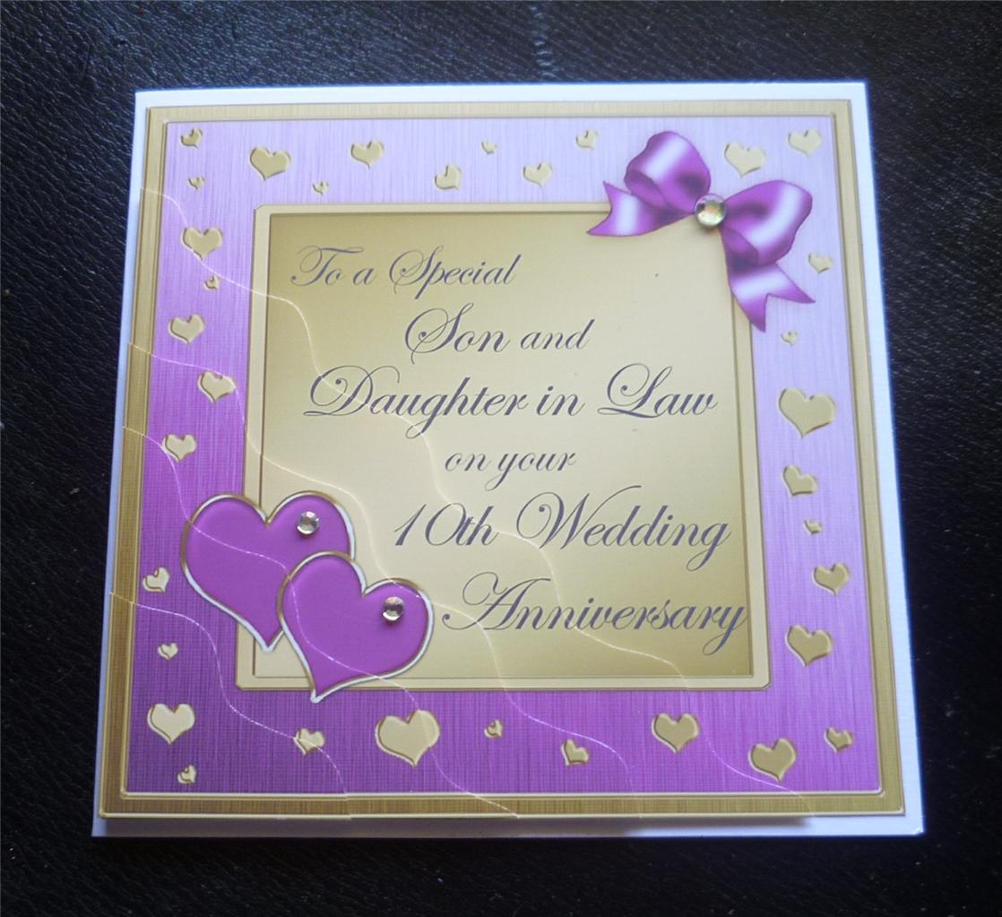 special son  daughter in law 10th wedding anniversary