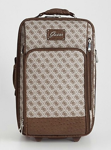 New Guess Tryst Wheeled 20 Quot Brown Suitcase Luggage Bag