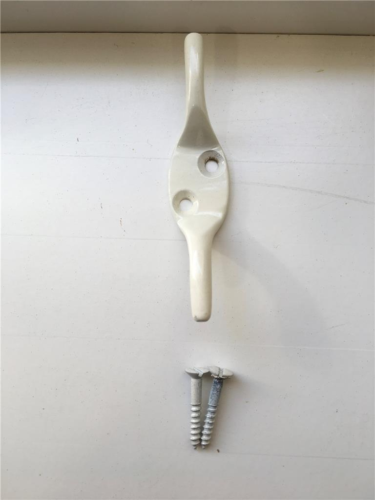 Roman Blind Cleat Hook With Matching Screws Available In