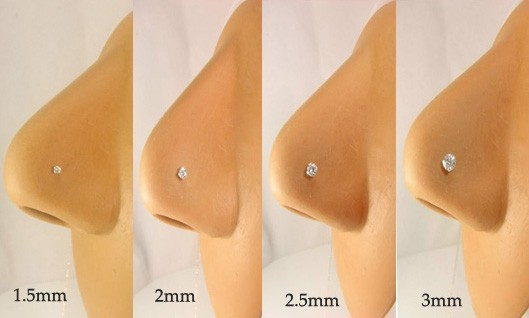 Lot 20 Silver Nose Bone Stud Ring 1 5mm All Clear Gem 22g