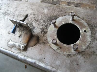 Used Aluminum Gas Tank 42gal Cap Marine Fuel Cell Boat
