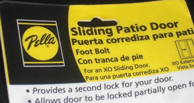 Pella Sliding Patio Door Foot Bolt Xo New Nip Assembly Ebay