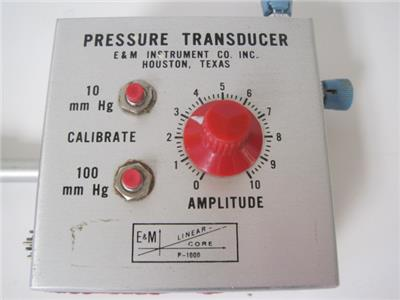 Details about E&M INSTRUMENTS P-1000 PRESSURE TRANSDUCER P1000 RARE LAB  EQUIPMENT USED WORKS