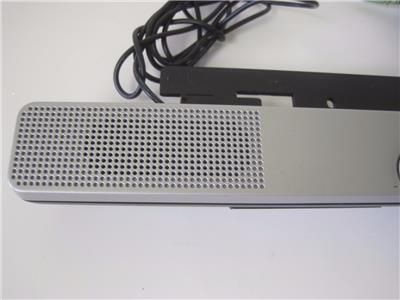 HP SP03A01 Silver Flat Bar Monitor Speaker with back wire cover lot:c5