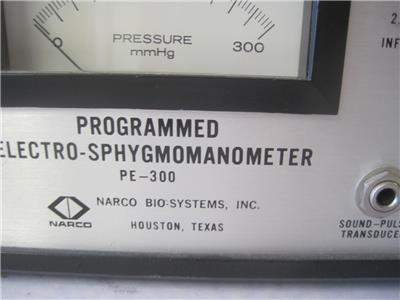 Details about NARCO BIO-SYSTEMS PROGRAMMED ELECTRO-SPHYGMOMANOMETER PE-300  USED LAB EQUIPMENT