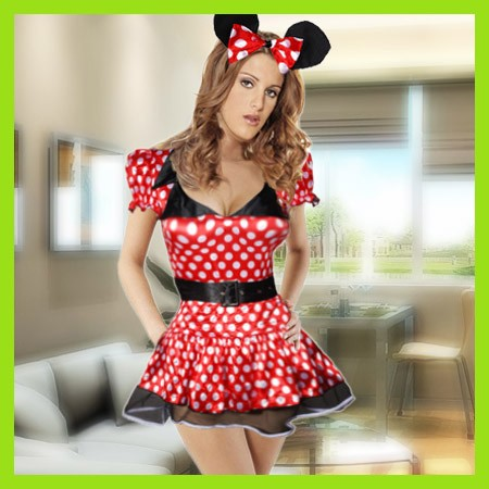 neu sexy mickey maus kost m mini kost mparty mit ohren ebay. Black Bedroom Furniture Sets. Home Design Ideas