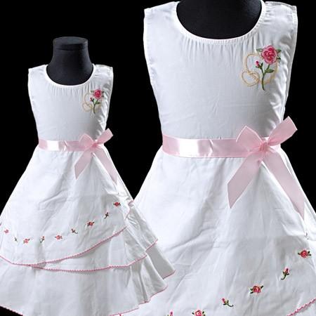 Weiß Kinder Kommunion Kleid Blumenmädchen Festkleid ...