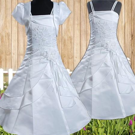 R187 Blumenmädchen Festkleid mit Bolero Kommunionskleid ...