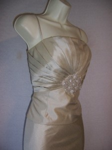 JESSICA HOWARD Ivory Sleeveless Beaded Lined Formal Gown dress
