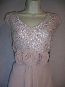 JESSICA HOWARD Woman Beige Lace/Chiffon Formal Evening dress & Jacket