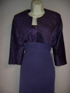 PATRA Light Purple Chiffon Beaded Formal Gown Dress Jacket 10 NWT