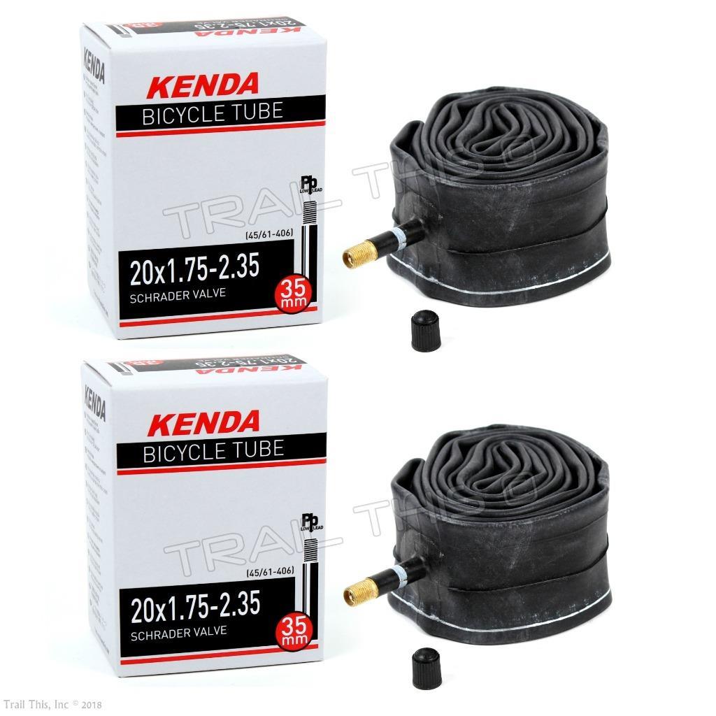 "4 Four Kenda 20/"" x 1.75//1.95//2.35 Schrader Valve BMX Bike Tubes Recumbent"