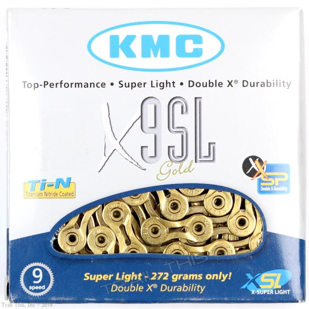 KMC X9SL Gold 9 Speed 116 Links Bike Chain for Shimano Sram Campy