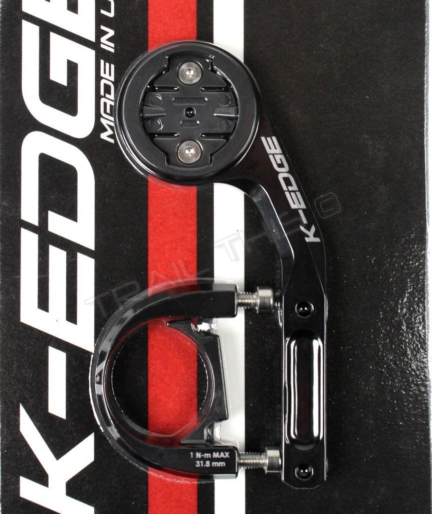 K-EDGE GARMIN SPORT COMPUTER MOUNT-31.8-BLACK NEW K13-1100-31.8-BLK