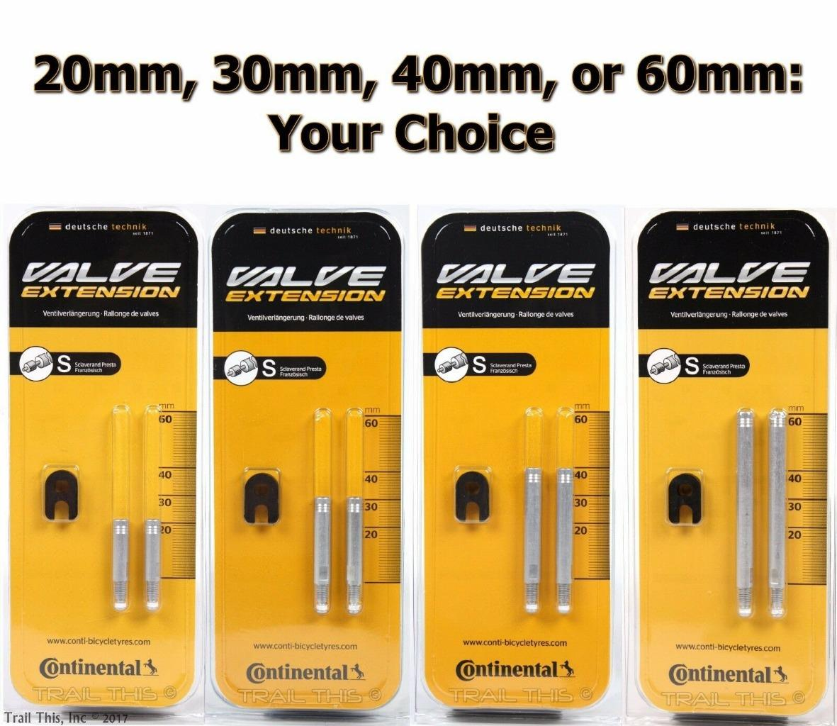 Continental  Valve Extensions 30mm-2 Pack-Bicycle Extenders-New
