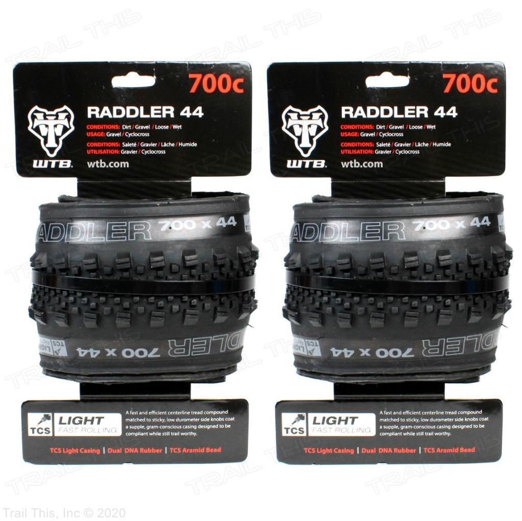 Folding 700 x 40 TCS Tubeless WTB Raddler 700c Tire Fast Light Black