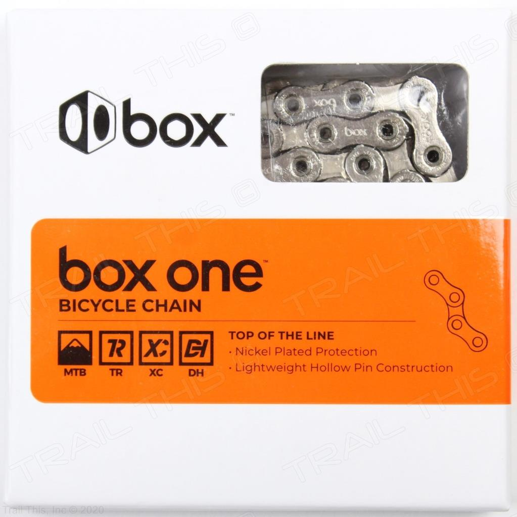 BOX ONE Chain 11 Speed 126 Links Silver Nickel Plated Hollow Pins