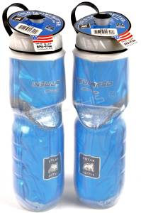 2 Pack Polar Blue Insulated 24oz Water Bottles Bike Hiking