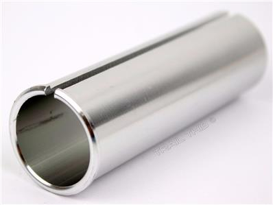 2.6MM SHIM 27.2MM SEATPOST TO 29.8MM SILVER BICYCLE SEAT POST SHIM