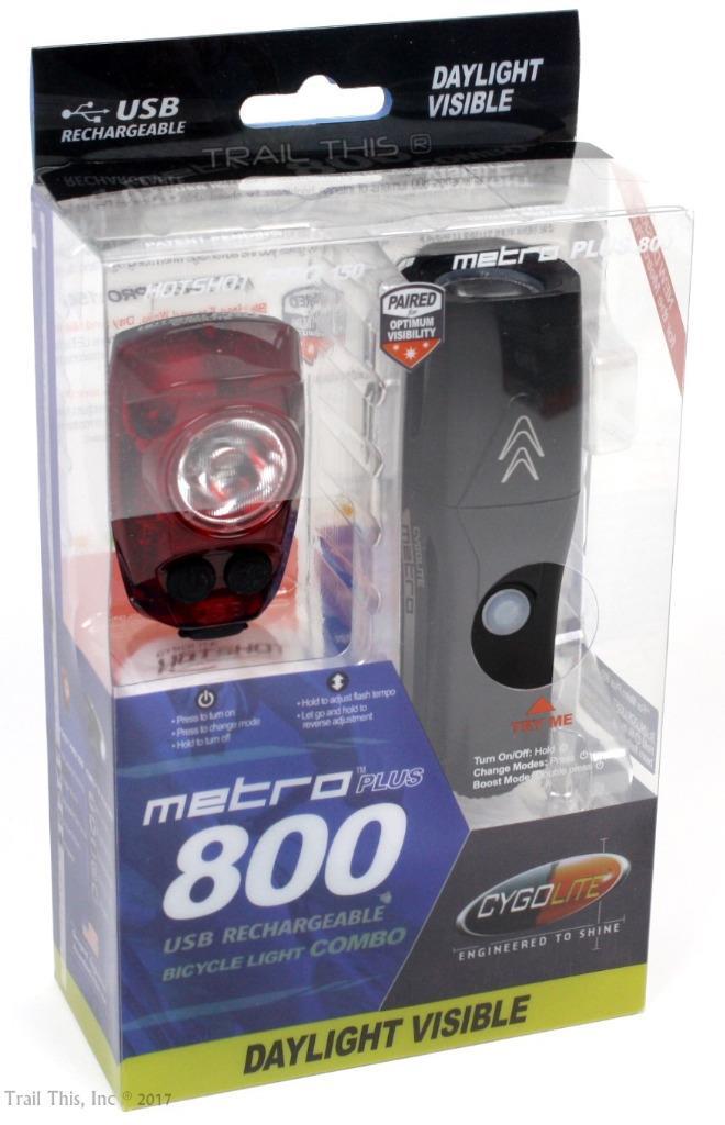 Hotshot Pro 150 Bike Head /& Tail Light Combo Set USB Cygolite Metro Plus 800