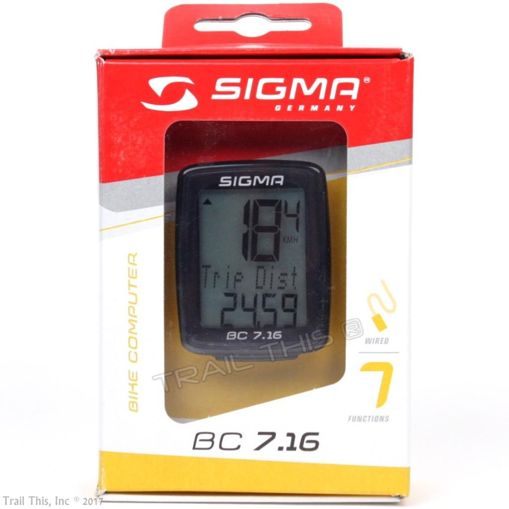 Sigma BC 7.16 Wired 7 Function Bicycle Computer Black
