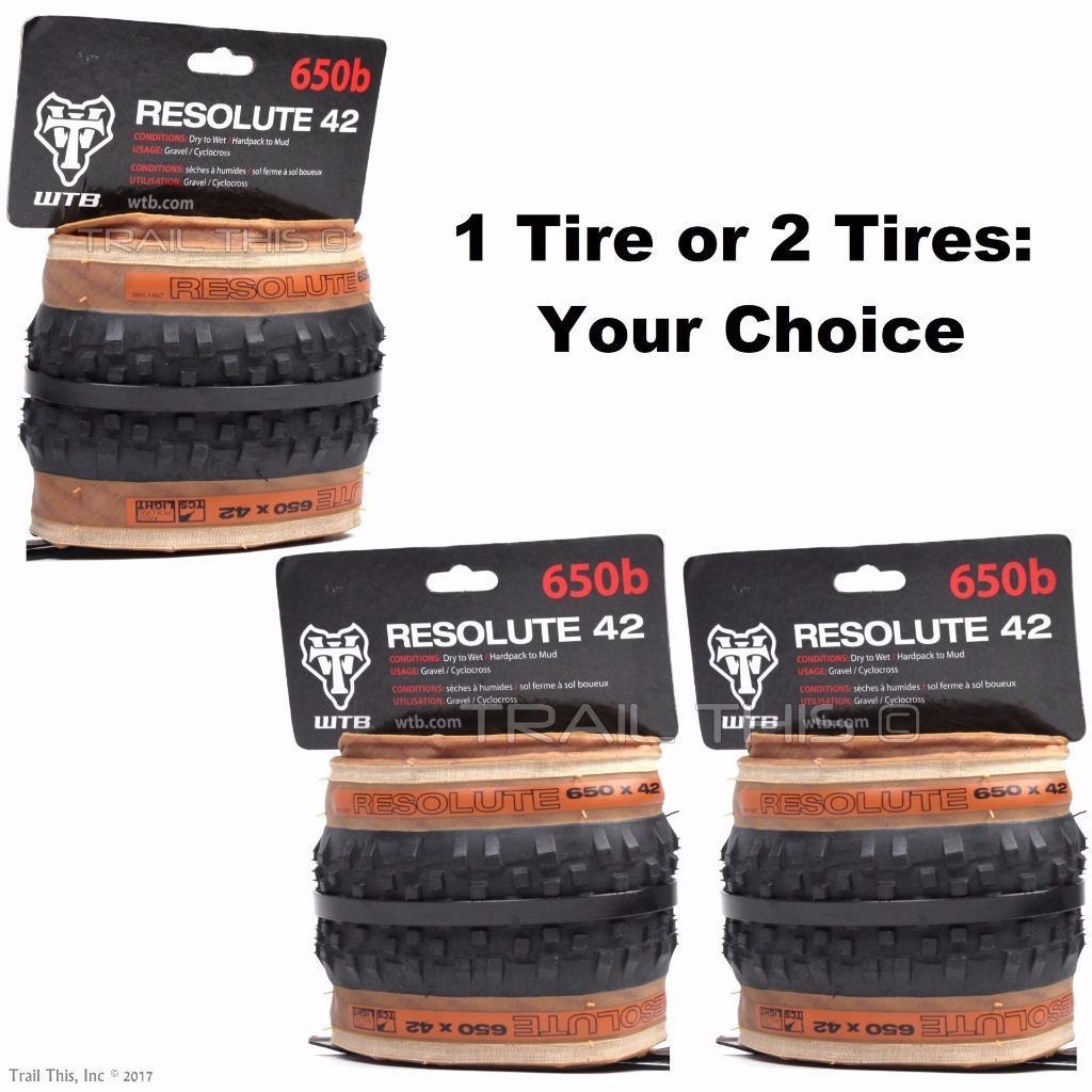 WTB Resolute Tcs Tubeless Folding Tire Light Fast Rolling Black 27.5 X 42Mm Bike