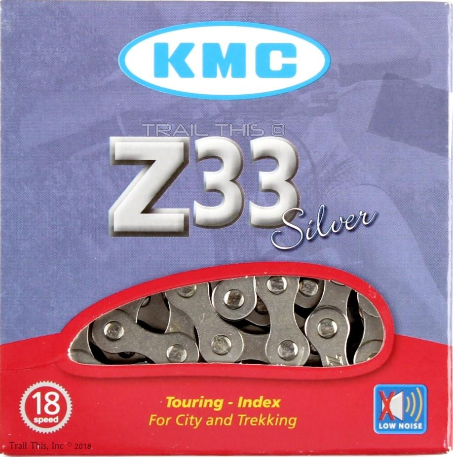 "Chrome 1//2/"" x 3//32/"" KMC Z33 Bike Chain 5,6 Speed Vintage Mountain Road Bicycle"