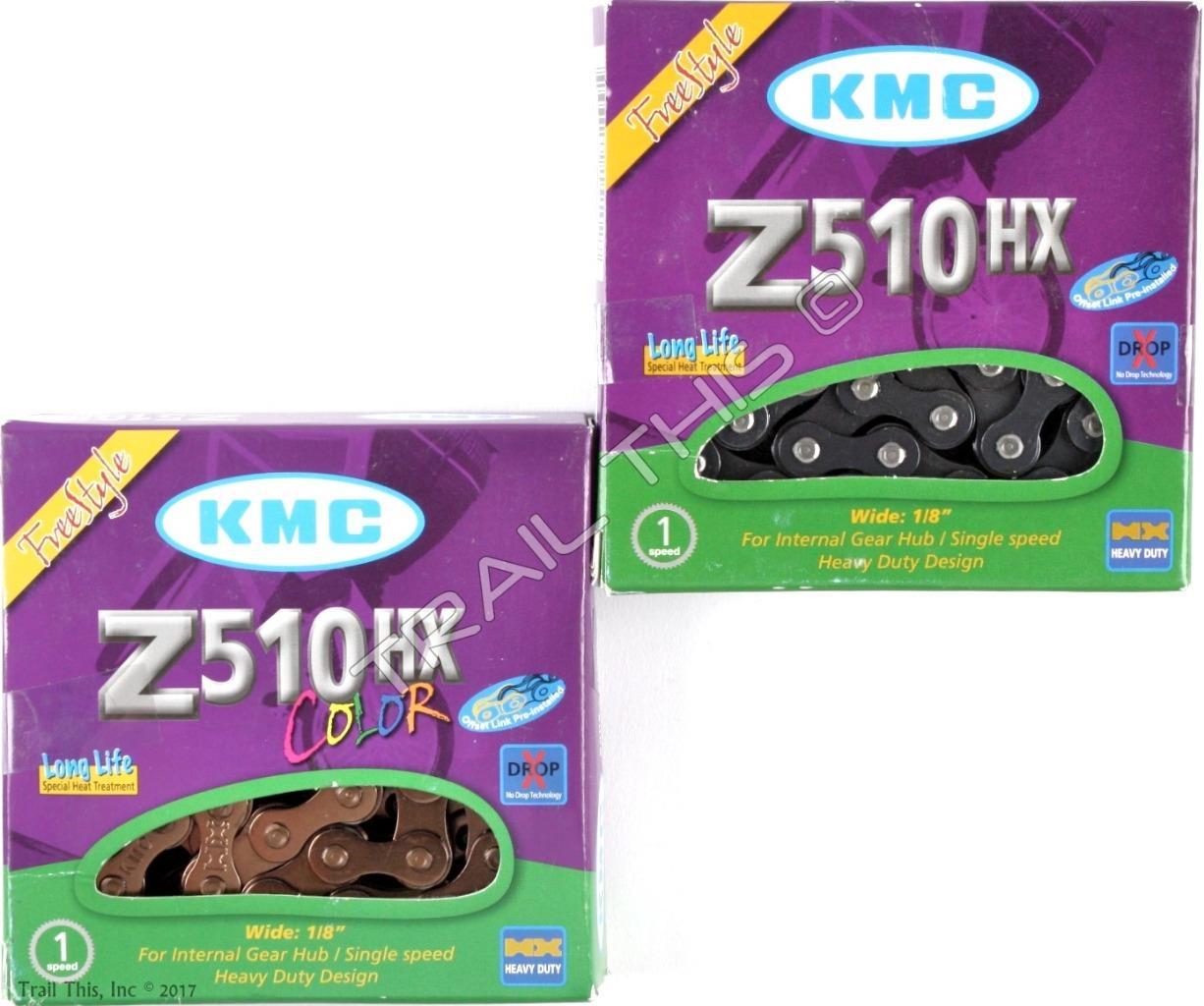 """Copper KMC Z510HX BMX or fixie single speed bicycle chain 1//2/"""" X 1//8/"""" 113 link"""
