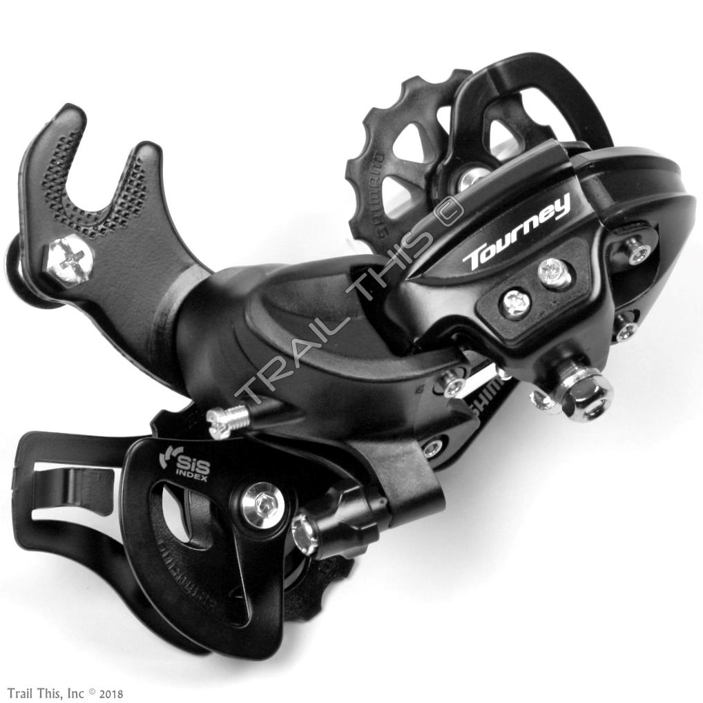 Shimano Tourney RD-TY300 6//7-Speed Long Cage Rear Derailleur with Frame Hanger