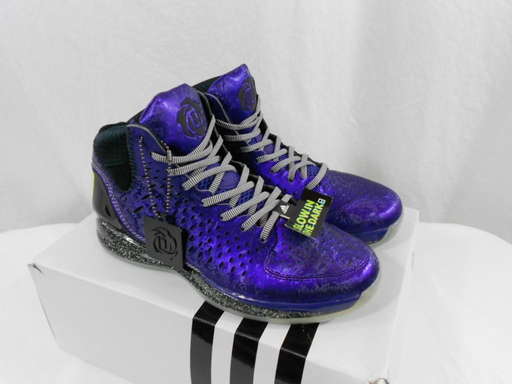 Adidas D Rose 3 Nightmare Before Christmas Purple Black Shoe Derrick Glow G59648   eBay