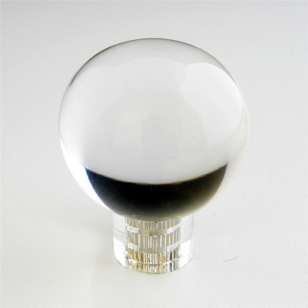 Brainerd Clear Lucite Satin Nickel Glass Like Round Ball