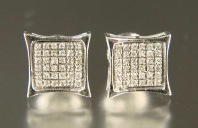 MENS/LADIES XL WHITE DIAMOND STUDS 9 MM EARRINGS KITE