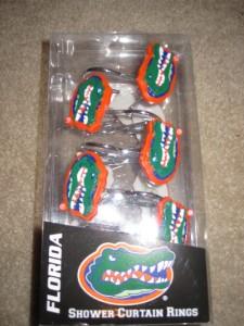 Florida Gators Shower Curtain Rings