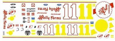 Fred Cady 680 #11 Holly Farms 1975-Cale Yarborough Nascar decal