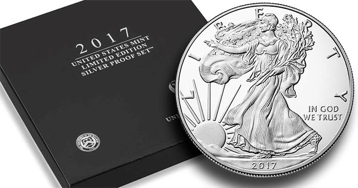 2017 S Us Mint Limited Edition Silver Proof 8 Coin Set