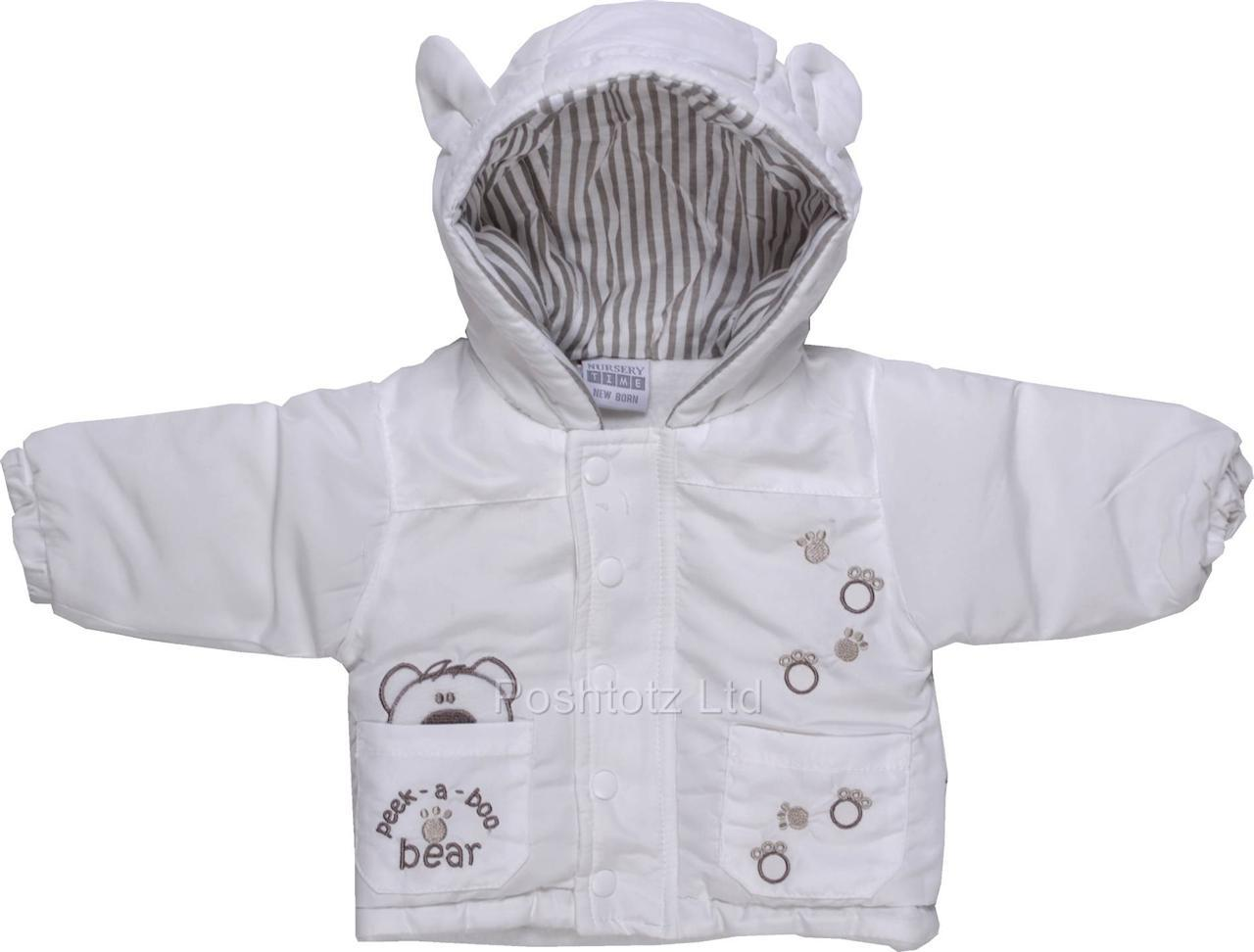 baby peek a boo bear snug white autumn winter hooded. Black Bedroom Furniture Sets. Home Design Ideas